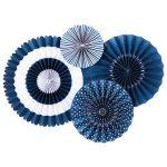 Abanicos de  papel BLUEBERRY PARTY FANS -