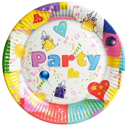 Plato cartón PARTY MIX de 23 cm - Fiesta superhéroes