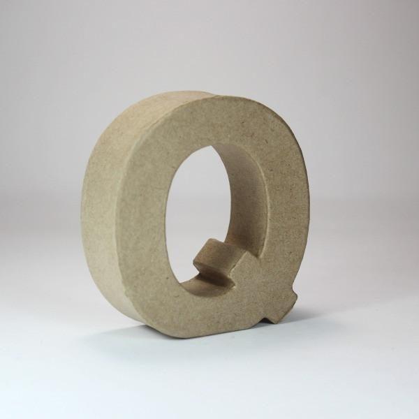 Letra Q de 18 cm de cartón -