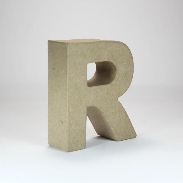 Letra R de 18 cm de cartón -
