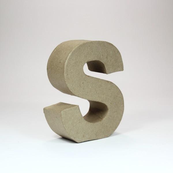 Letra S de 18 cm de cartón -