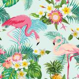 Servilletas papel EXOTIC FLAMINGOS de 33x33 cm -