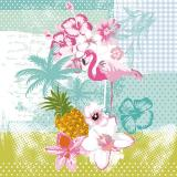Servilletas papel FLAMINGO de 33x33 cm -