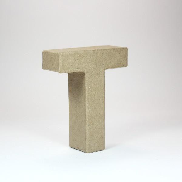Letra T de 18 cm de cartón -