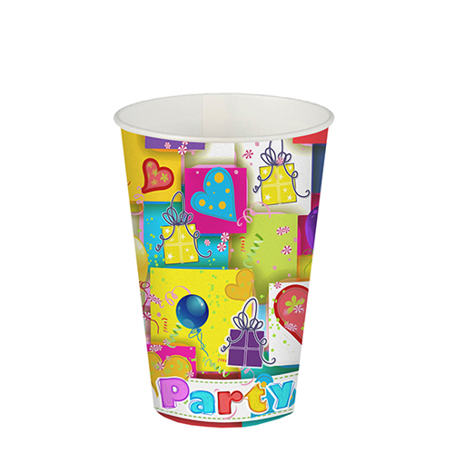 Vaso cartón PARTY MIX de 200 ml -