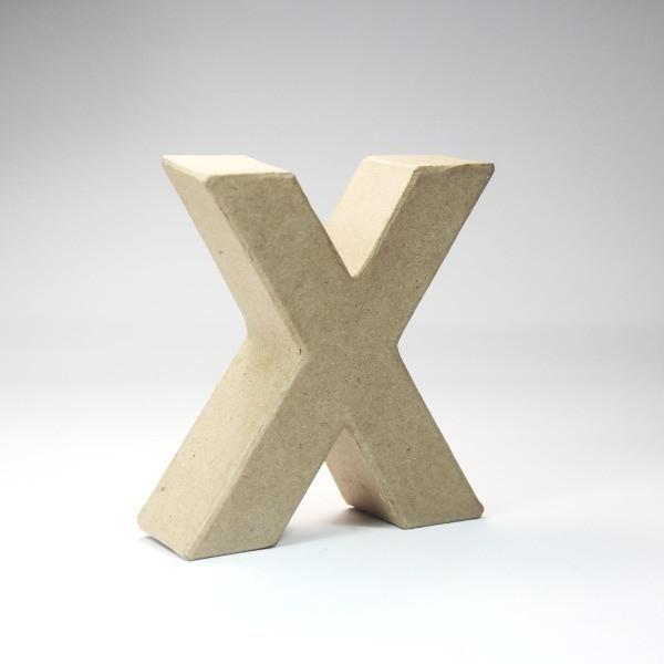 Letra X de 18 cm de cartón -