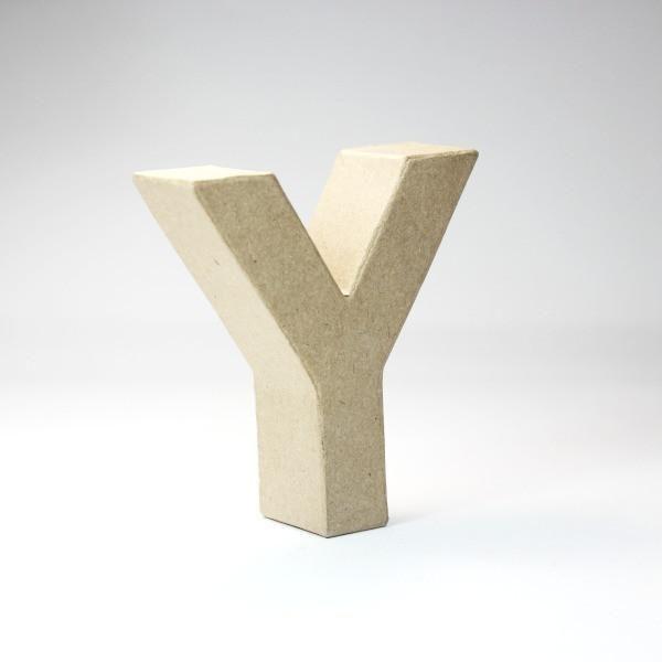 Letra Y de 10 cm de cartón -