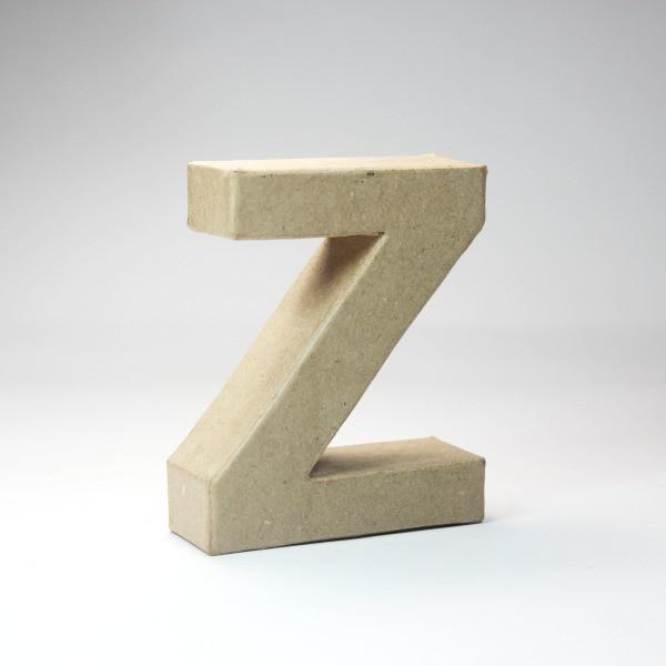 Letra Z de 18 cm de cartón -