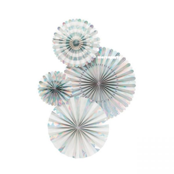 Abanicos de papel BASIC HOLOGRAPHIC FAN -