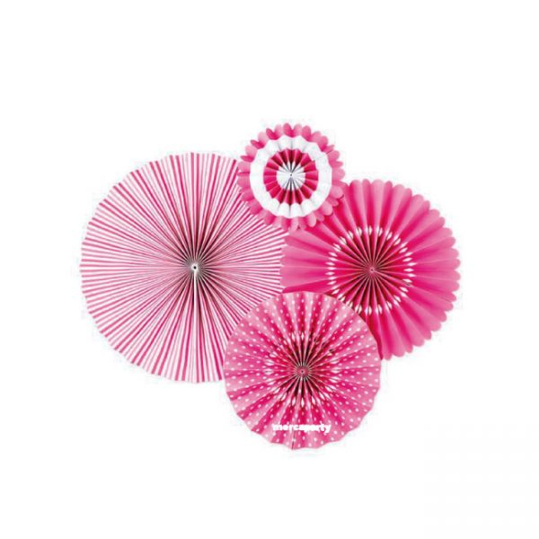 Abanicos de papel BUBBLE GUM PARTY FANS -