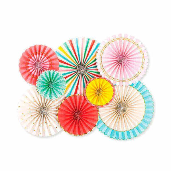 Abanicos de papel HIP HIP HOORAY PARTY FANS -