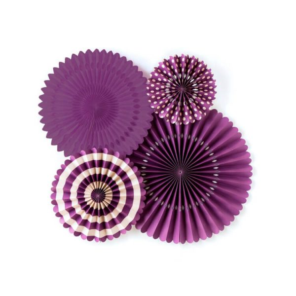 Abanicos de papel BASIC PURPLE FAN -