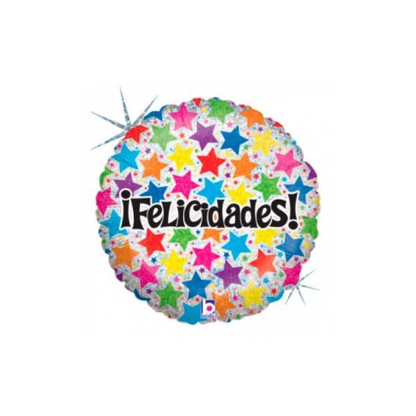 """Globo """"FELICIDADES"""" de microfoil de 18"""" - Bodas de Oro"""