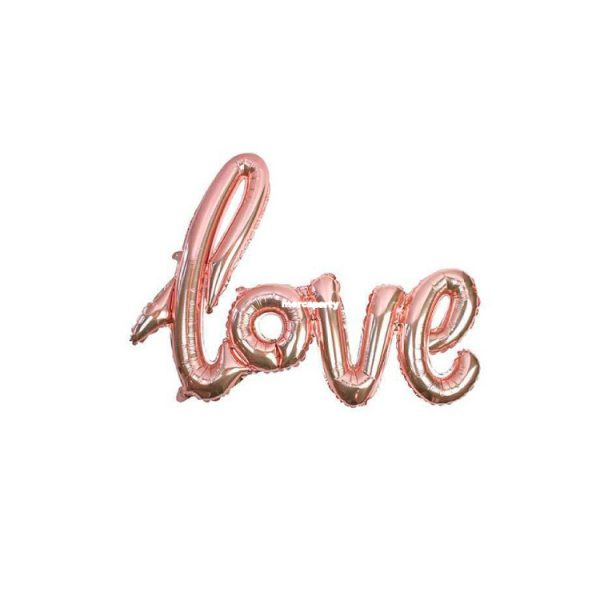 """Globo San Valentín microfoil """"love"""" color rosa de 47"""" - Bodas de Oro"""