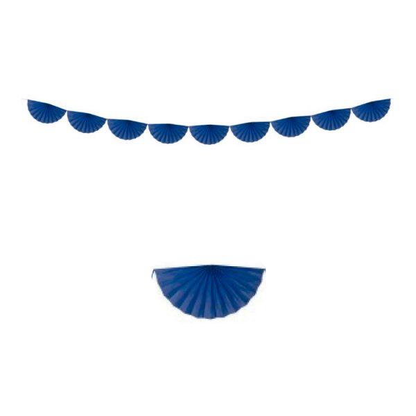 Guirnalda de 8 abanicos de papel color turquesa - Fiesta Oktoberfest