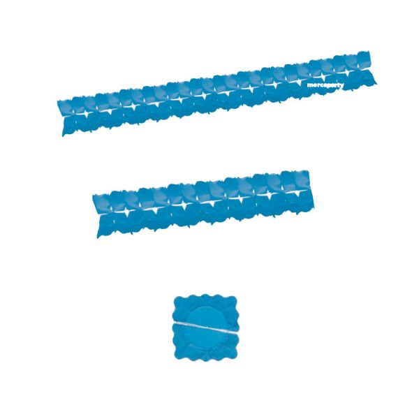 Guirnalda papel color azul celeste de 4mts -