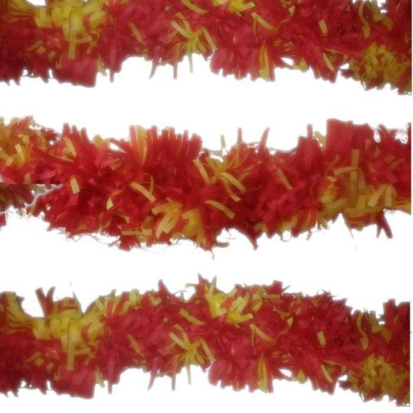 Guirnalda trianon de papel en Rojo y Amarillo de 3m -