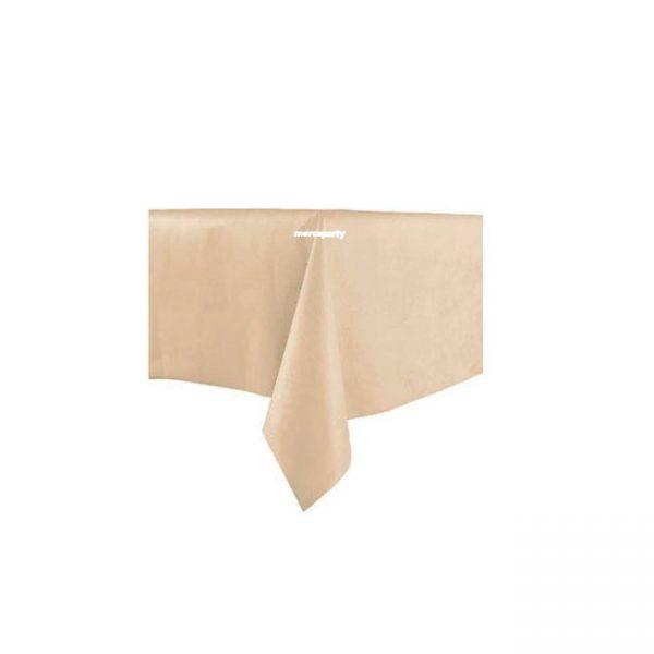 Mantel aspecto tela color CREMA de 120 x180 cm - Menaje Baby Shower