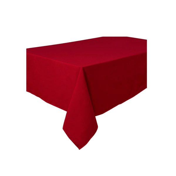 Mantel aspecto tela color ROJO de 120 x180 cm -