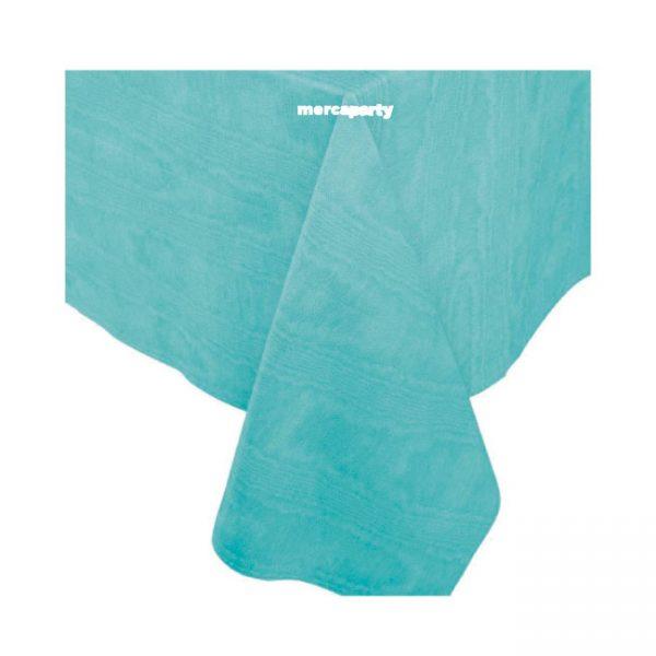 Mantel aspecto tela color TURQUESA de 120 x180 cm - Confirmación