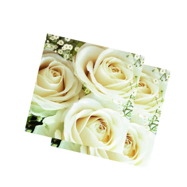 Servilletas papel ROYAL-FLOWERS de 33x33cm -