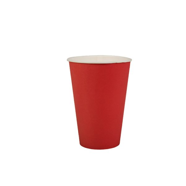 Vaso de cartón color ROJO de 266ml -