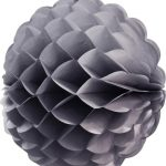 Bola de papel de 25 cm en panal de abeja color gris -