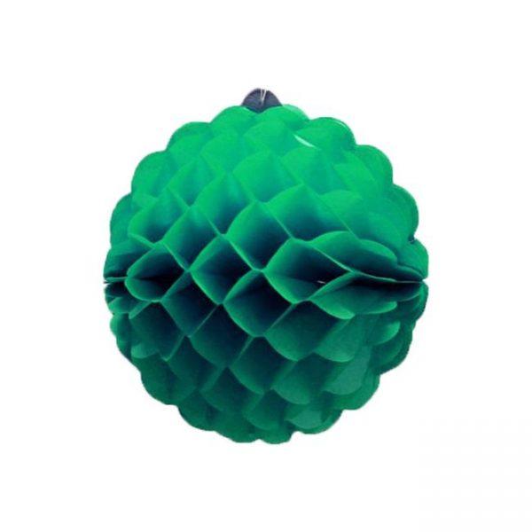 Bola de papel de 25 cm en panal de abeja color Verde jade -