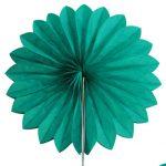 abanico 25 cm verde jade