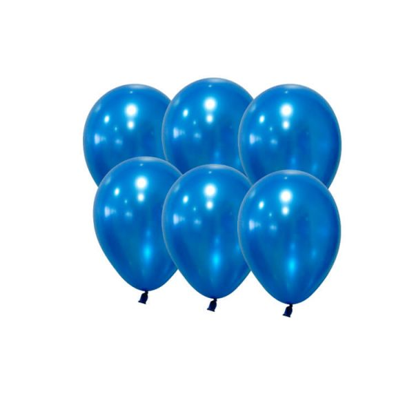 100 Globos metalizados color AZUL OSCURO - Fiesta superhéroes
