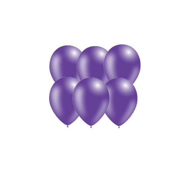 100 Globos metalizados color MALVA -