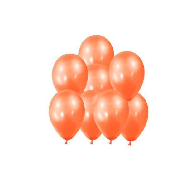 100 Globos metalizados color NARANJA -
