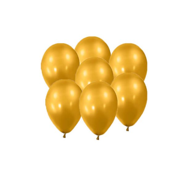 100 Globos metalizados color ORO -