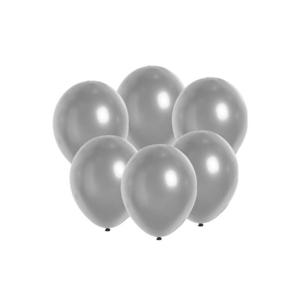 100 Globos metalizados color PLATA -
