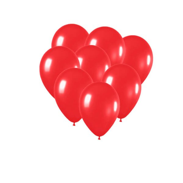 100 Globos metalizados color ROJO -