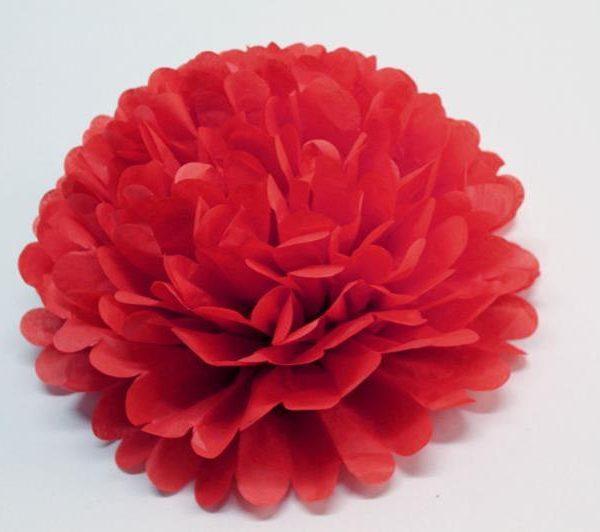 Flor de papel de 30 cm 3 unidades Rojas - Flores