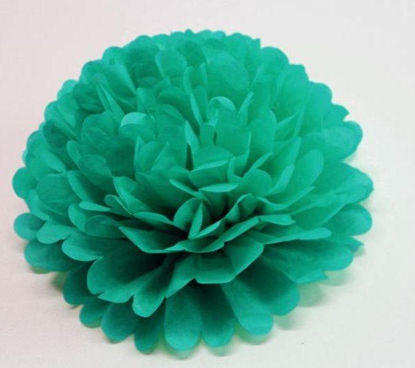 Flor de papel de 30 cm 3 Ud verde jade - Flores