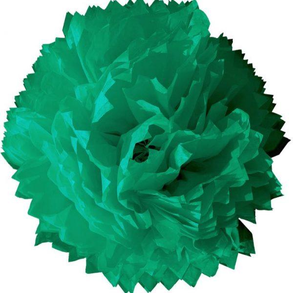 Flor de papel de 45 cm Verde Jade - Fiesta dinosaurios