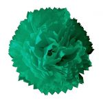 Flor de papel seda de 45 cm Verde Jade -