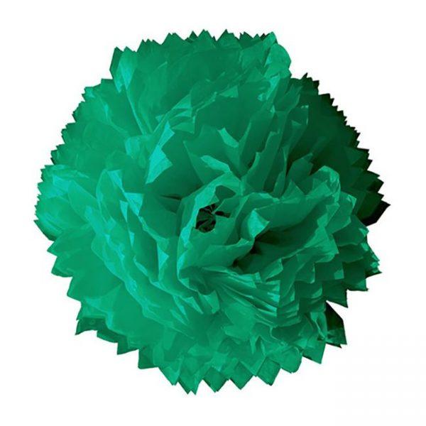 Flor de papel seda de 45 cm Verde Jade - Fiesta Saint Patrick