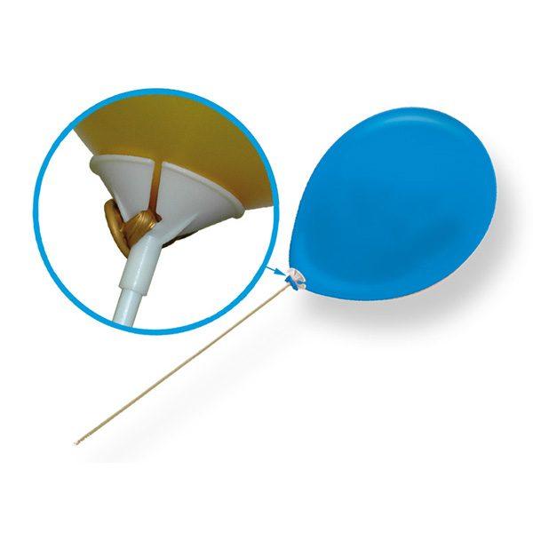 Varilla blanca con soporte para globos -