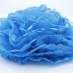 Flor papel seda – azul 2
