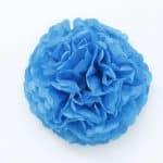Flor papel seda – azul