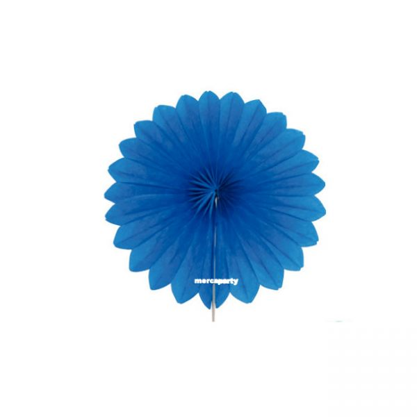 Abanico alveolados de papel color Turquesa de 15cm -