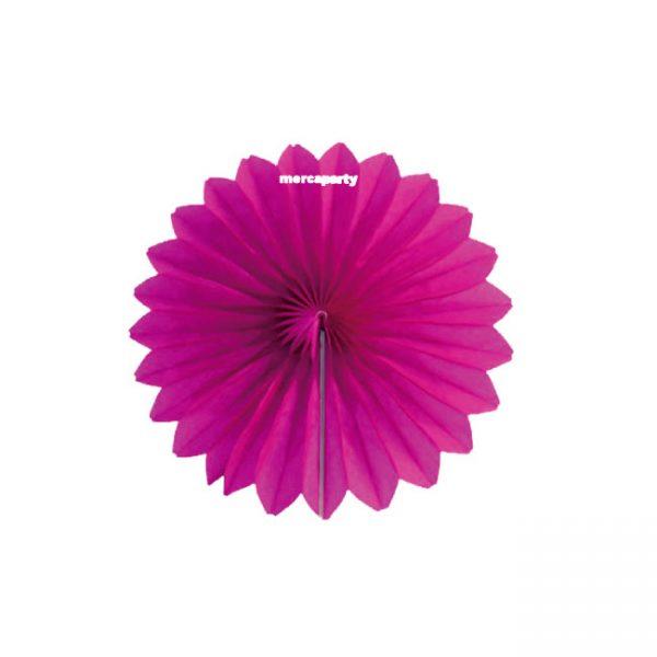 Abanico de papel 15 cm fucsia alveolado - Abanicos