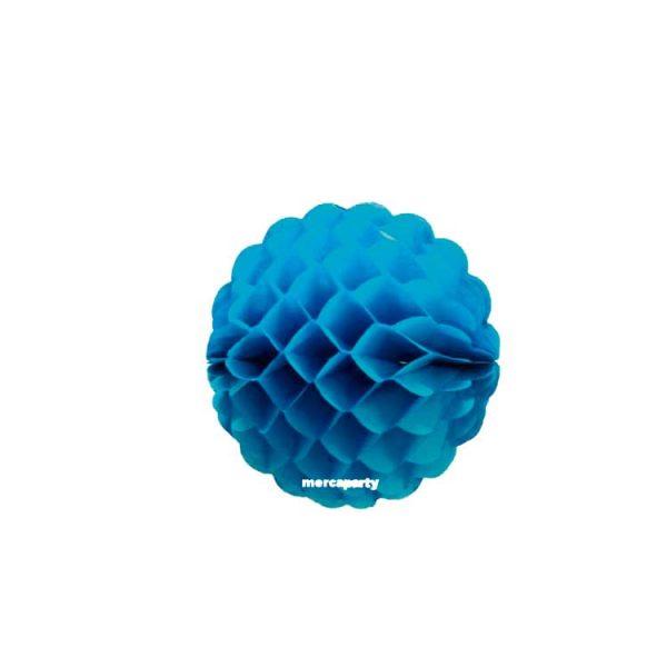 Bola de papel de 25 cm en panal de abeja color azul turquesa - Fiesta Oktoberfest