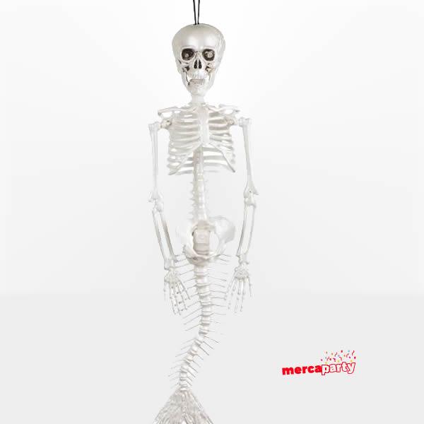 Decoración colgante esqueleto Sirena 40cm -