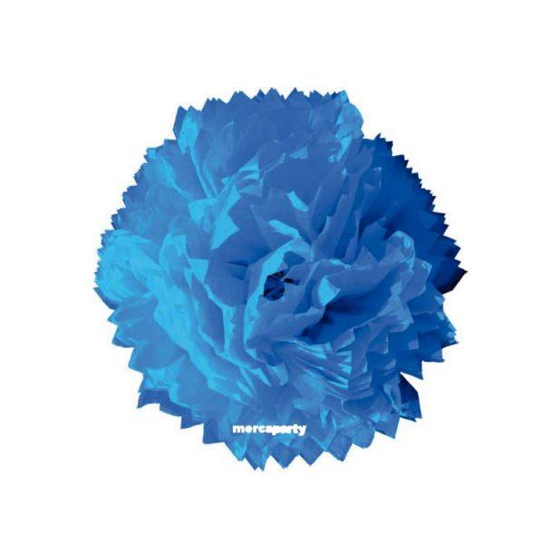 Flor de papel seda de 45 cm turquesa - Fiesta Oktoberfest