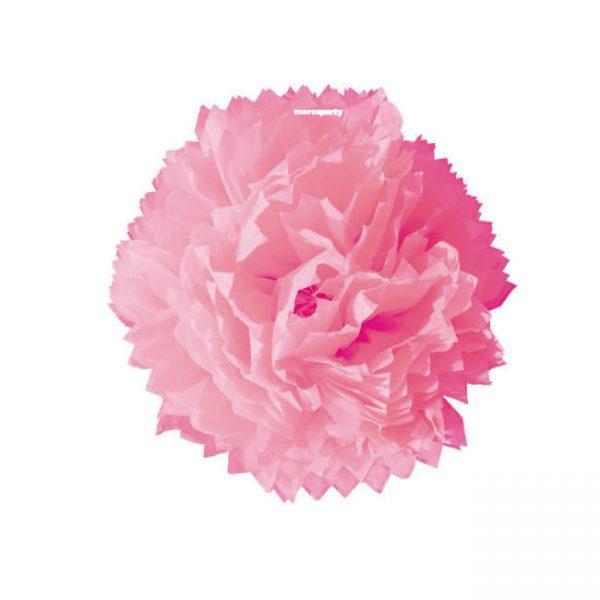 Flor de papel seda de 45 cm rosa -