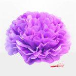Flor de papel seda de 20 cm color malva -